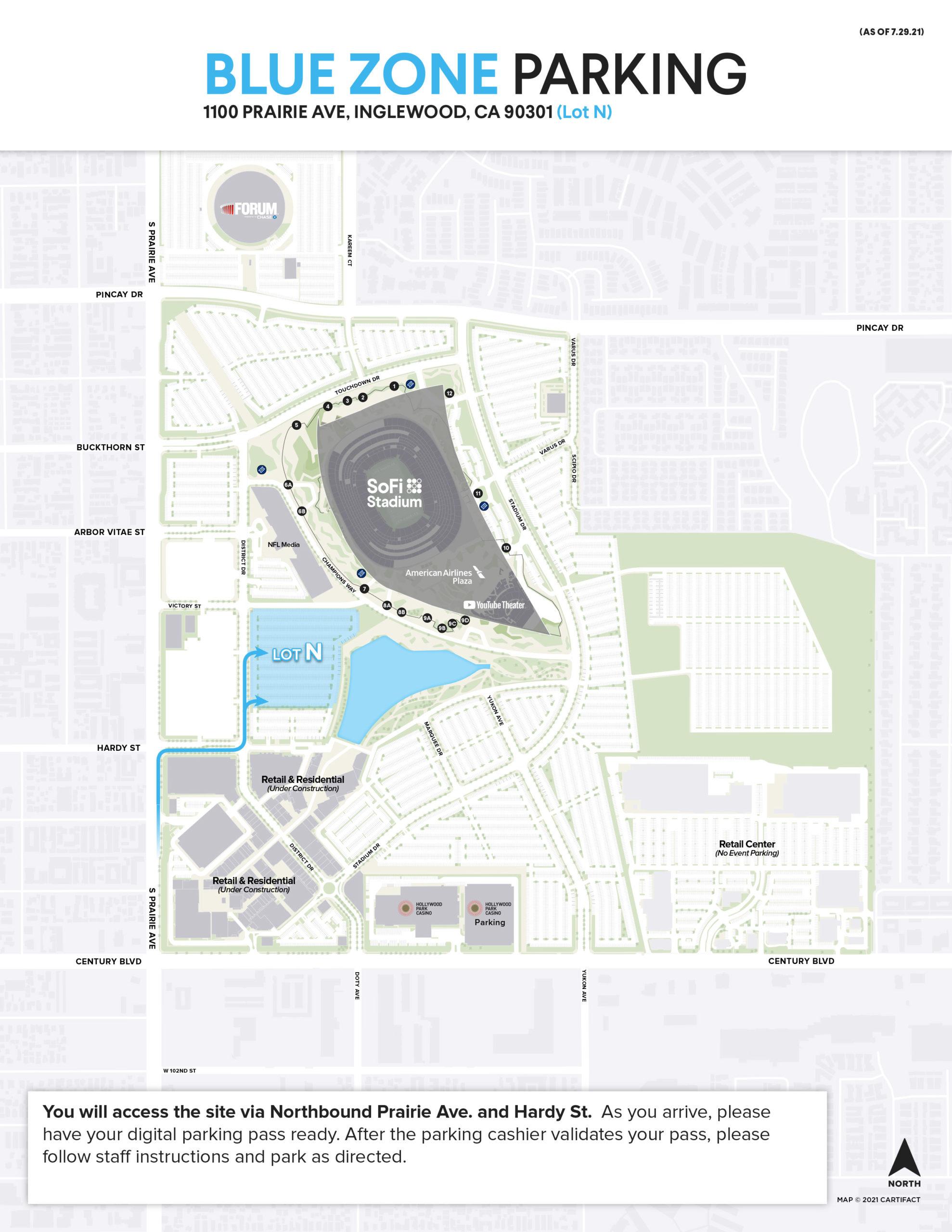 Parking Information   SoFi Stadium